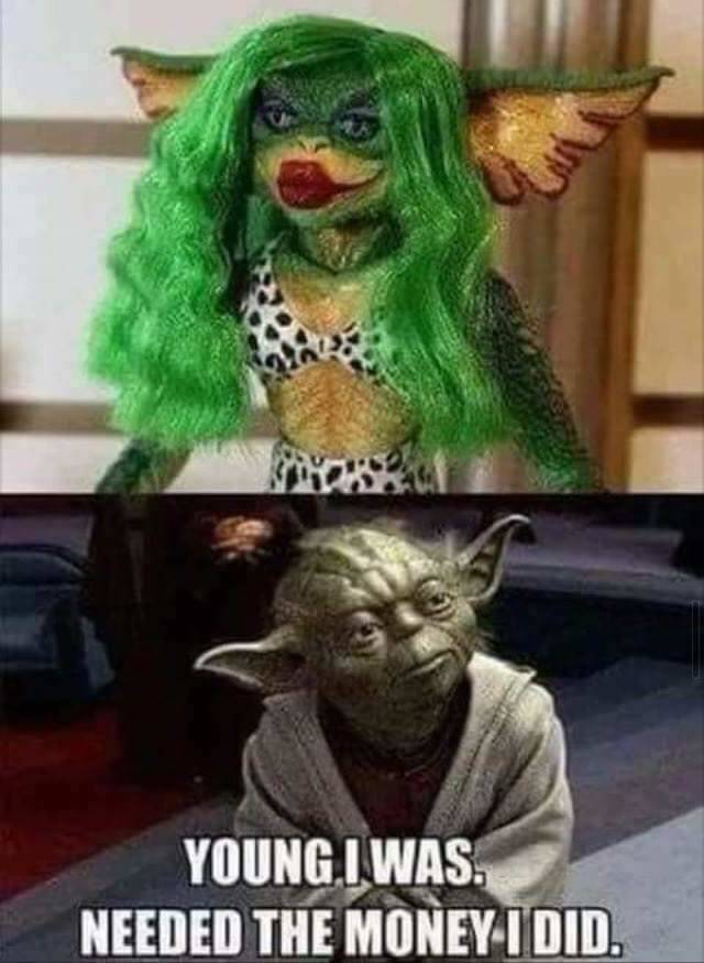 Yoda has a dark side.
