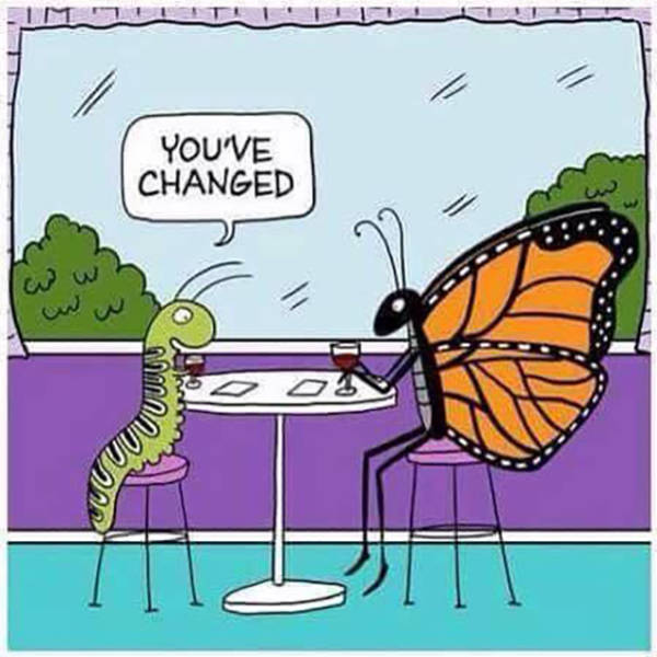 You've changed.